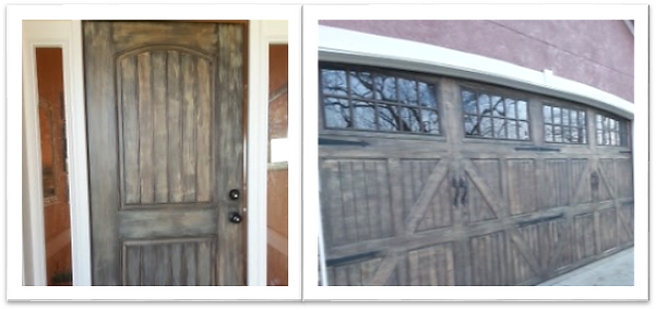 Diy Faux Painting Garage Doors To Look Like Wood Kokocashew