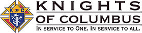 """Knights of Columbus """"...Service to One...Service to All"""" logo."""