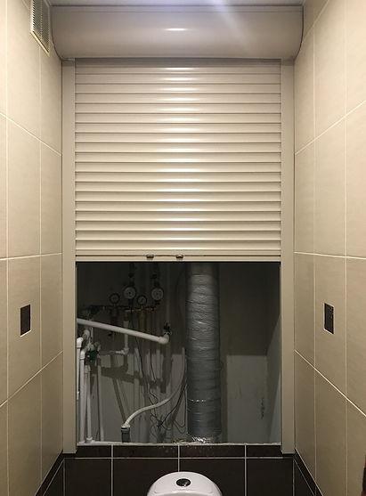 Рольставни сантехнические в туалет