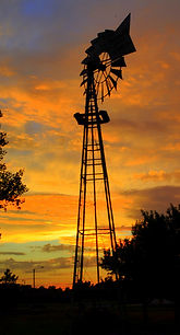 Windmill at sunset | Goessel Museum