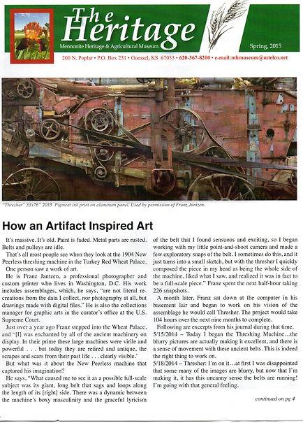 2015 MH&AM Spring newsletter pg. 1 | Goessel Museum