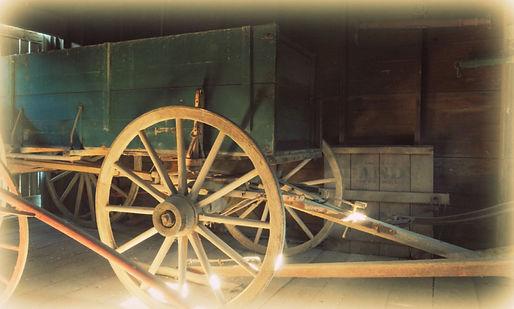 Wagon in Schroeder Barn | Goessel Museum