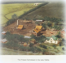 Areil veiw of Friesen farm late 1940's | Goessel Museum