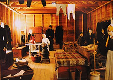 Recreated living conditions in Immigrant House replica | Goessel Museum