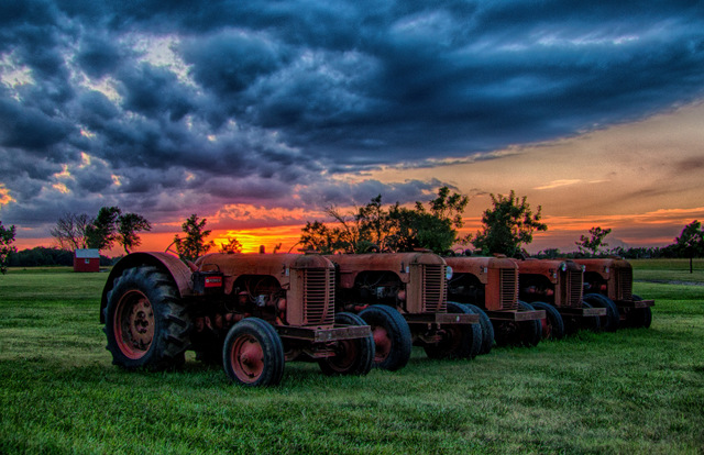DSC07844_HDR Case Tractors at Dusk.jpg