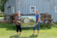 Fern with Cindy W. winner of the Schroeder Barn painting