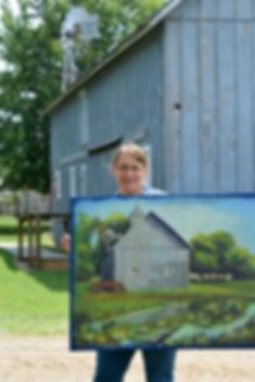 Cindy W. wins Schroeder Barn painting