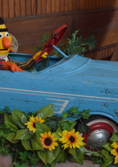 Bert and Ernie show their car