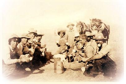 Harvest Crew eating Faspa | Goessel Museum