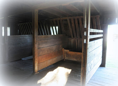 Horse stalls in Schroeder Barn | Goessel Museum