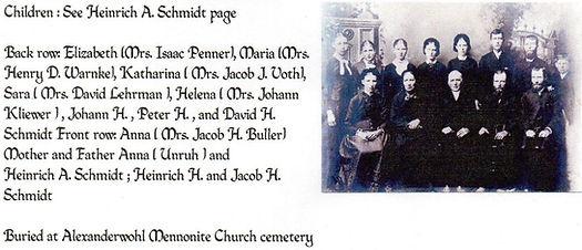 Heinrich A. and Anna (Unruh) Schmidt