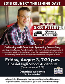 Greg Peterson Fri. evening entertainment