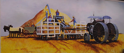 Country Threshing Days mural | Goessel Museum