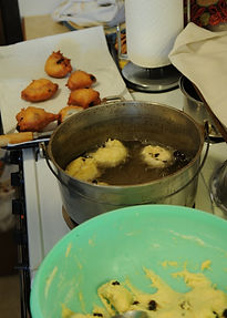 Frying New Years cookies | Goessel Museum