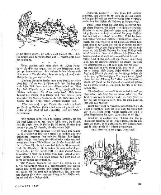 Hog Butchering artical Mennonite Life 1947