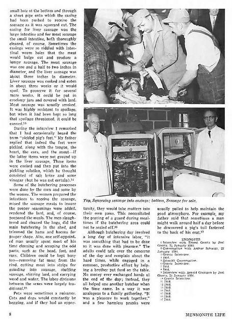 Hog Butchering Mennonite Life 1984 pg. 8
