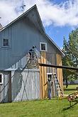 Schroeder Barn face lift/ Goessel Museum