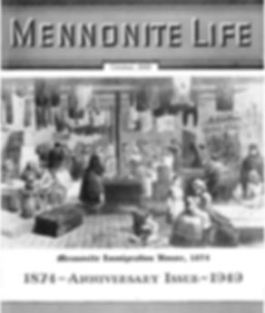 Mennonite Life Anniversary issue Oct. 1949