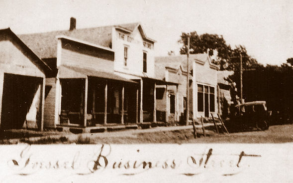 Goessel Business Street 1919 | Goessel Museum