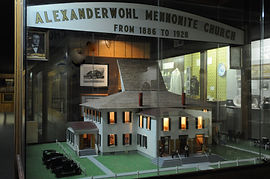 Alexanderwohl Mennonite Church scale model | Goessel Museum Goessel Museum