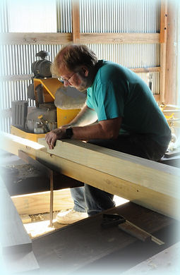 Nelson works on new signs | Goessel Museum