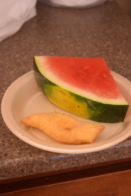 Rullcoka and watermelon