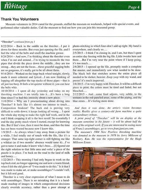 2015 MH&AM Spring newsletter pg. 4 | Goessel Museum