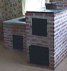 Brick oven in Friesen House | Goessel Museum