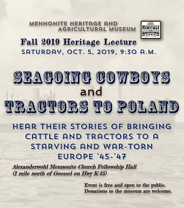 Heritage Lecture/Goessel Museum
