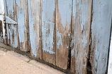 Peeling paint on Schroeder Barn