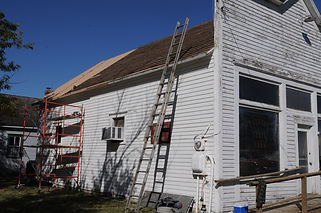 Bank Building roofing day | Goessel Museum