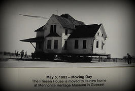 Friesen House moving day | Goessel Museum