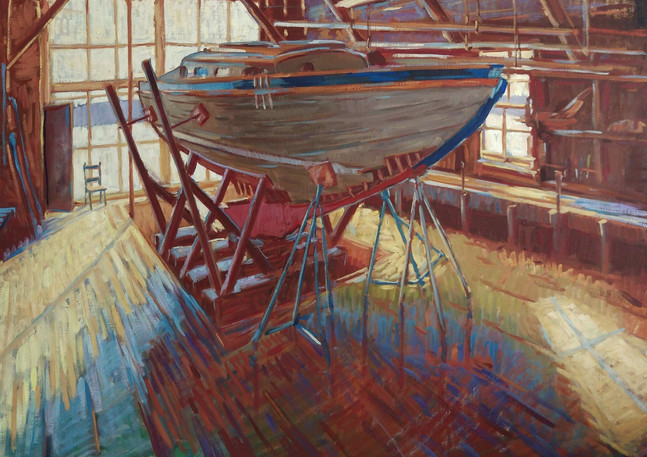 _Inside the Boatbuilder's Shed_ by Tim M