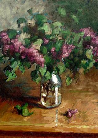 Lilacs in Jar  24x28   2020