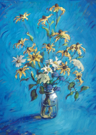 Mostly Brown Eyed Susans 28x32  2019