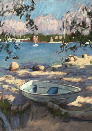 Beached Rowboat 80x100 cm 2019