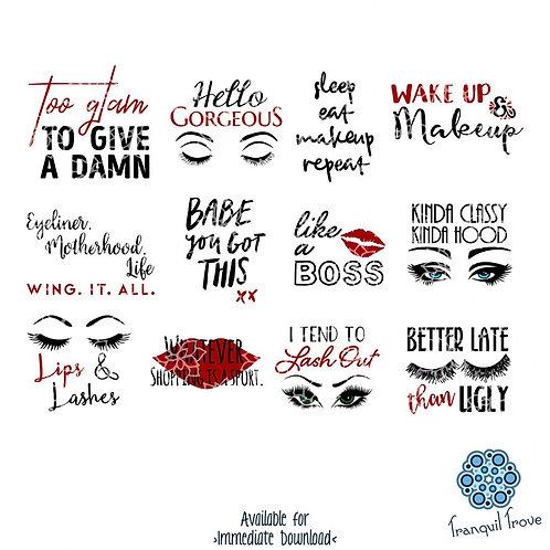 Makeup Brush Holder Designs - Set of 12