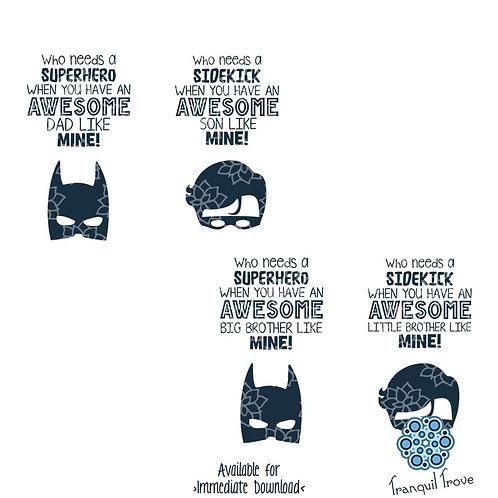 Awesome Superhero Batman and Robin