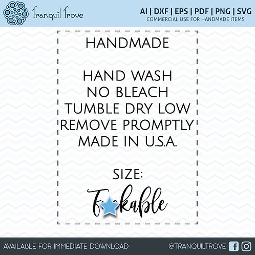Clothing label - Size Fuckable