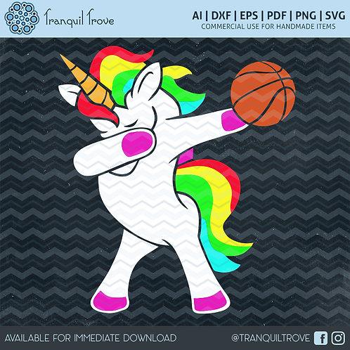 Dabbing Basketball Unicorn