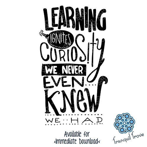 Learning Ignites Curiosity That We Never Knew We Had