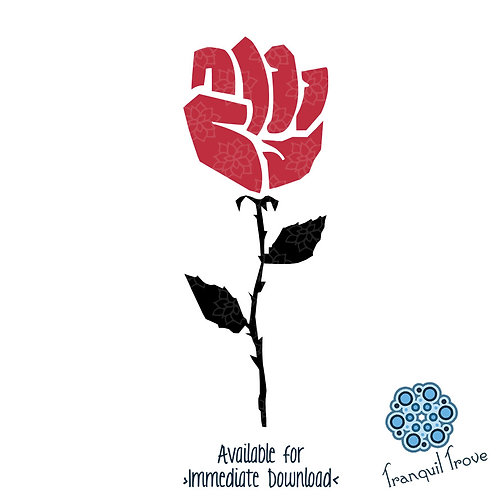 Resist Fist Rose