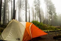 Logging camp, Oregon Wilderness, USA