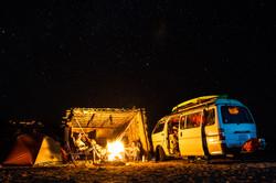 Camp, Bahia Concepcion, Mex