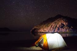 Camp, Playa Santispac, Mex