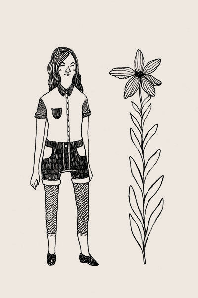 """Femme & Flower"" illustration by Grace Chomick"