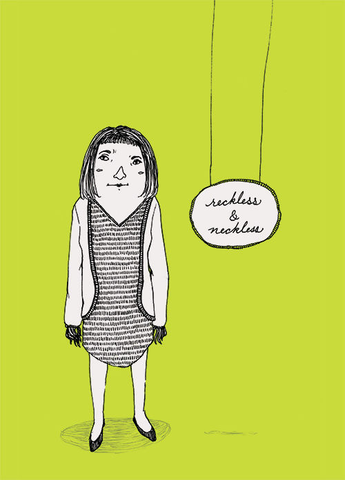 """Reckless & Neckless"" illustration by Grace Chomick"