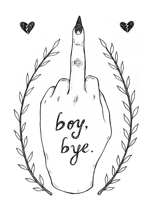 """Boy, Bye."" illustration by Grace Chomick"