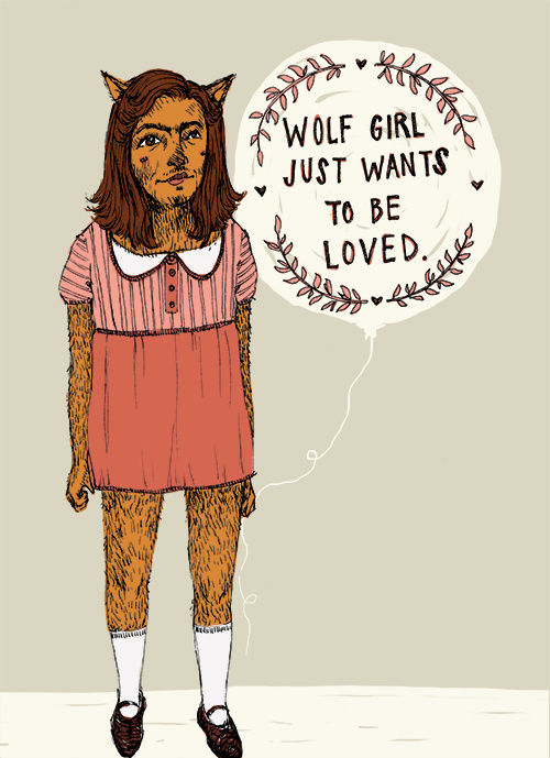 """Wolf Girl"" illustration by Grace Chomick"