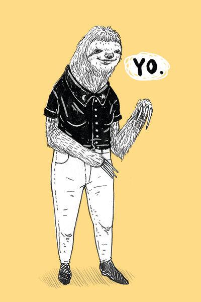"""Cool Sloth"" illustration by Grace Chomick"